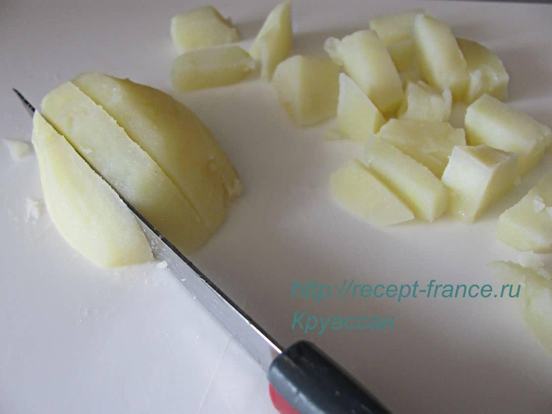 kak prigotovit kartofelnii salat s kapustoi