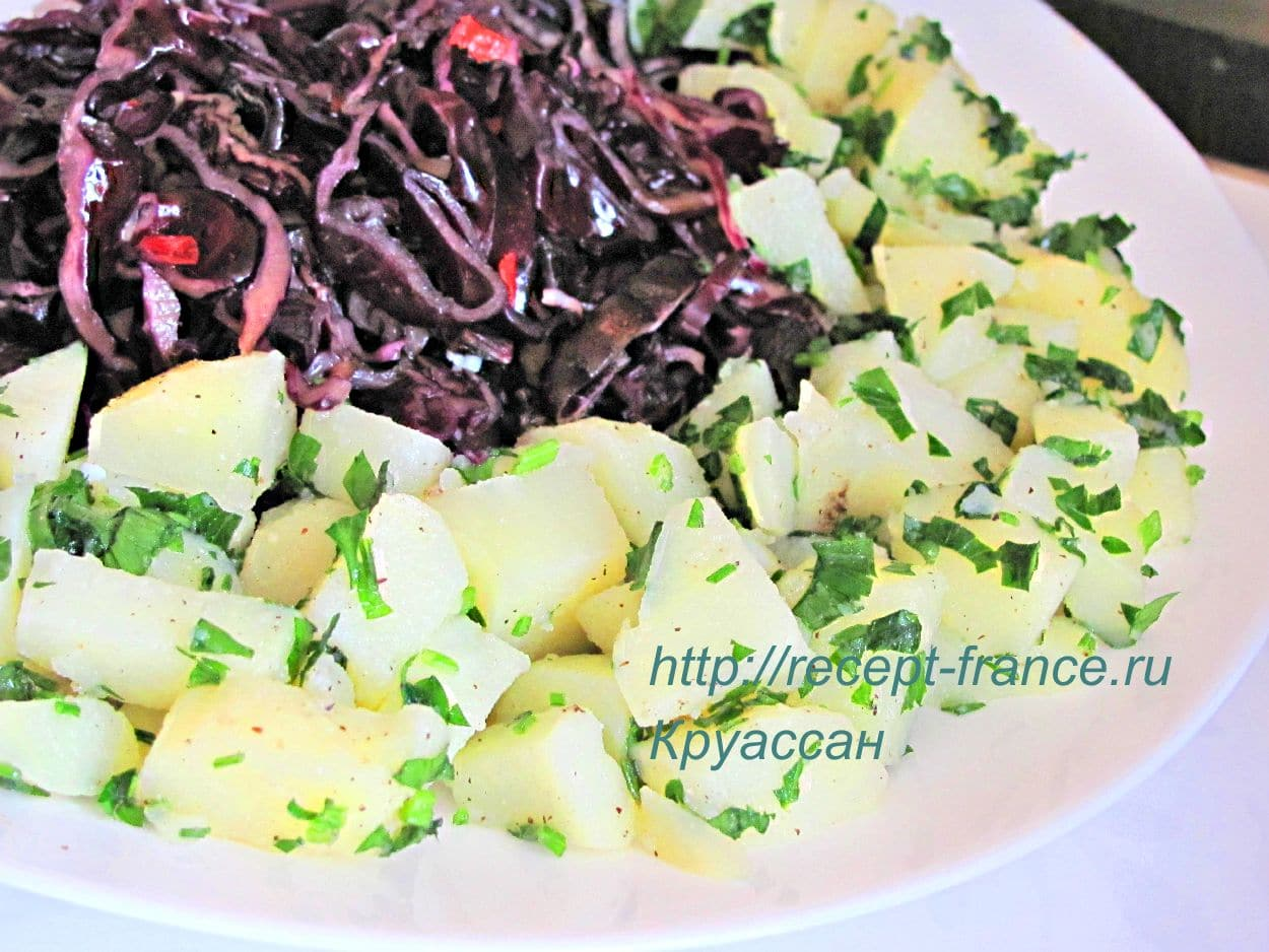 kartofelnii salat s kapustoi