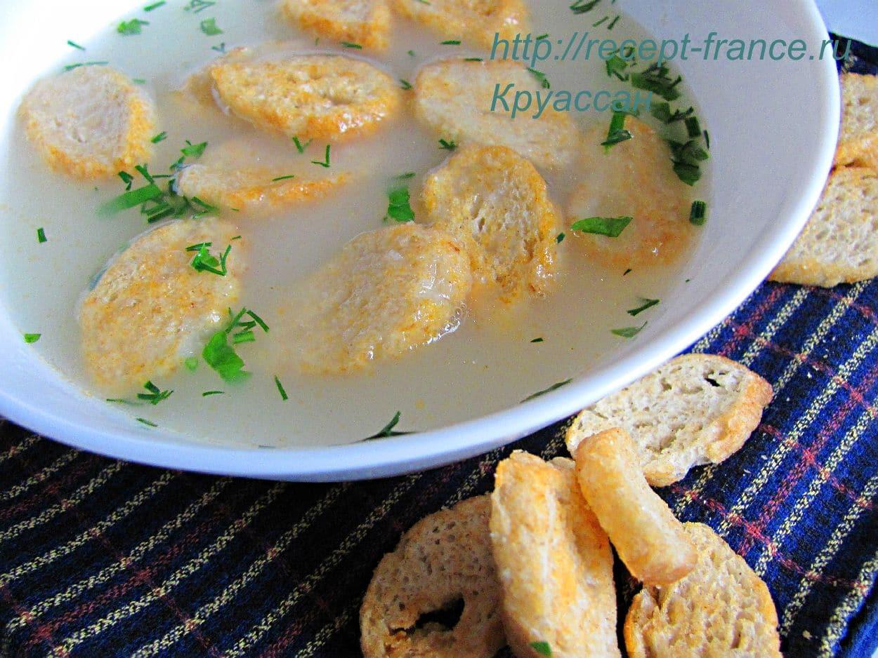 sirnii sup s chesnochnimi grenkami