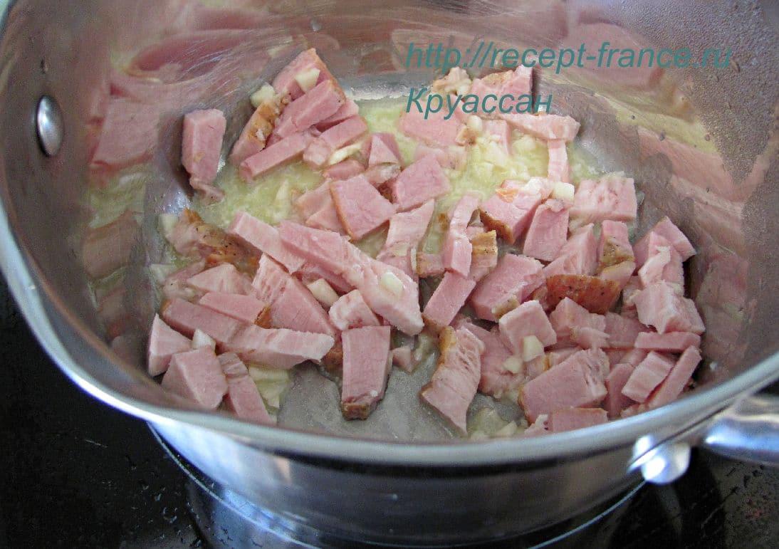 prigotovlenie supa s bekonom
