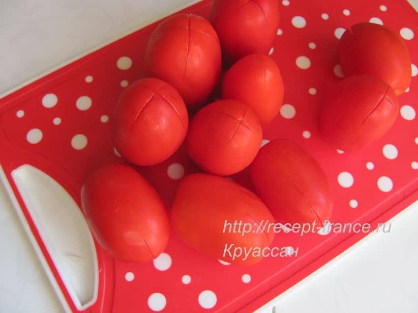 как снять кожицу с помидор