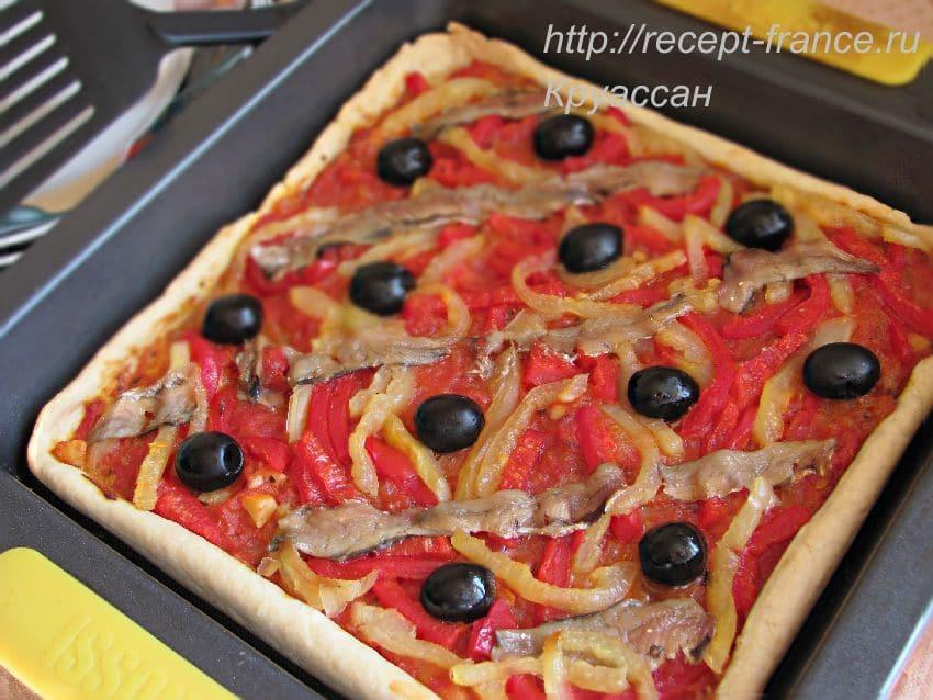 пирог с помидорами Провансаль