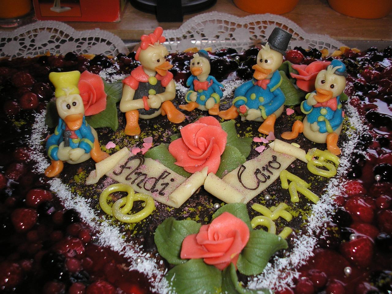 детский торт, марципан