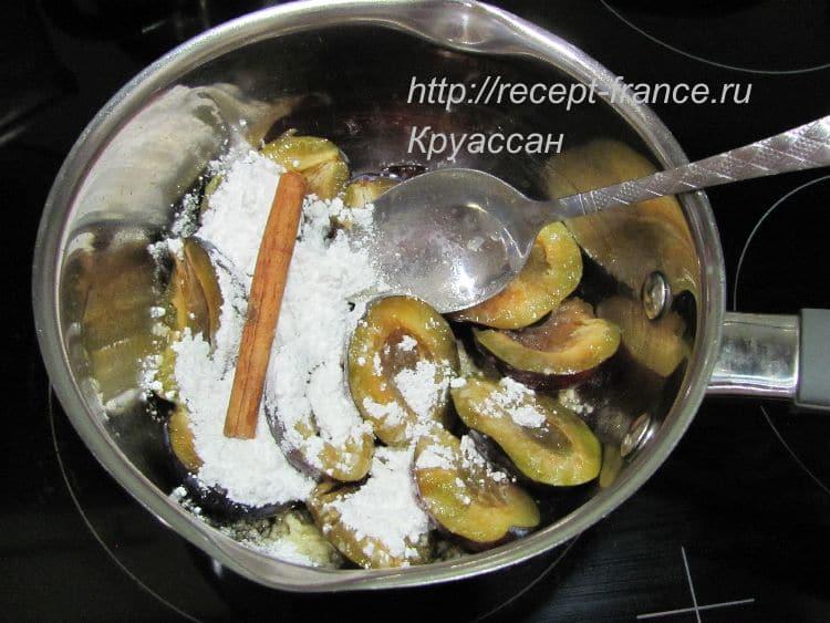 как приготовить французские гренки со сливами